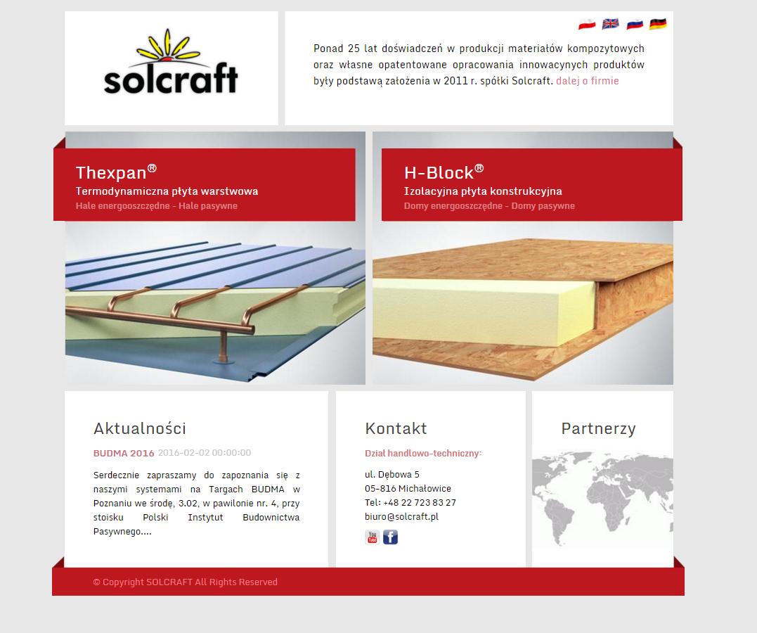 Strona WWW Solcraft