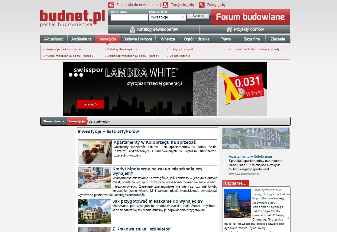 Kampania internetowa firmy Swisspor