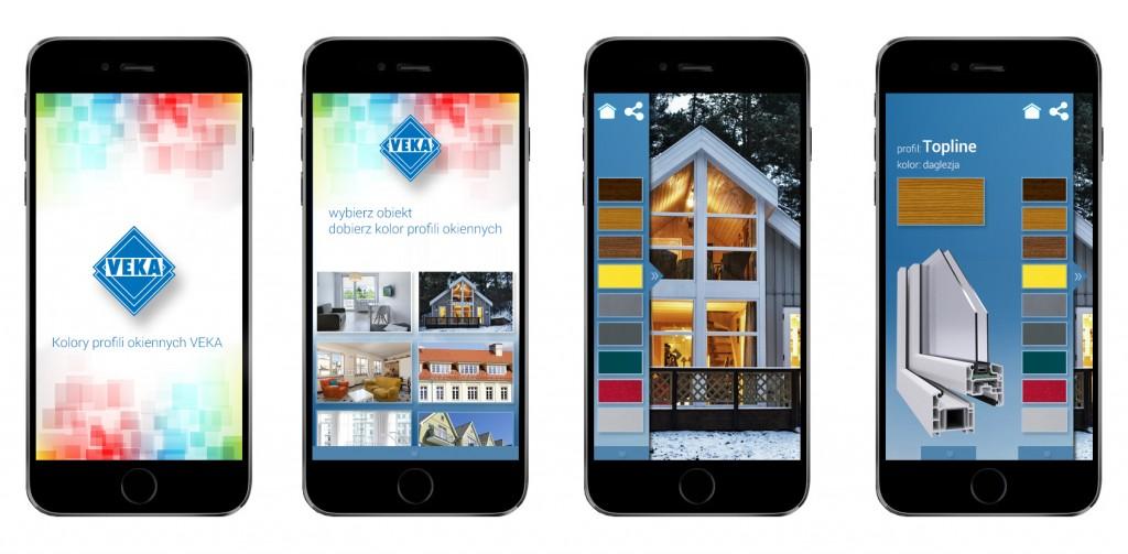 Aplikacje mobilna VEKA Kolory
