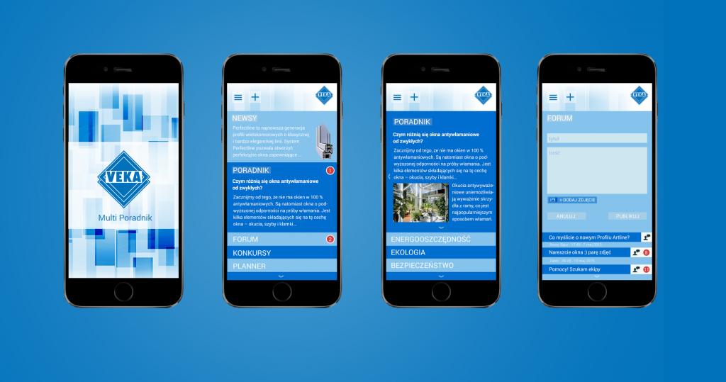 Aplikacja mobilna VEKA Poradnik