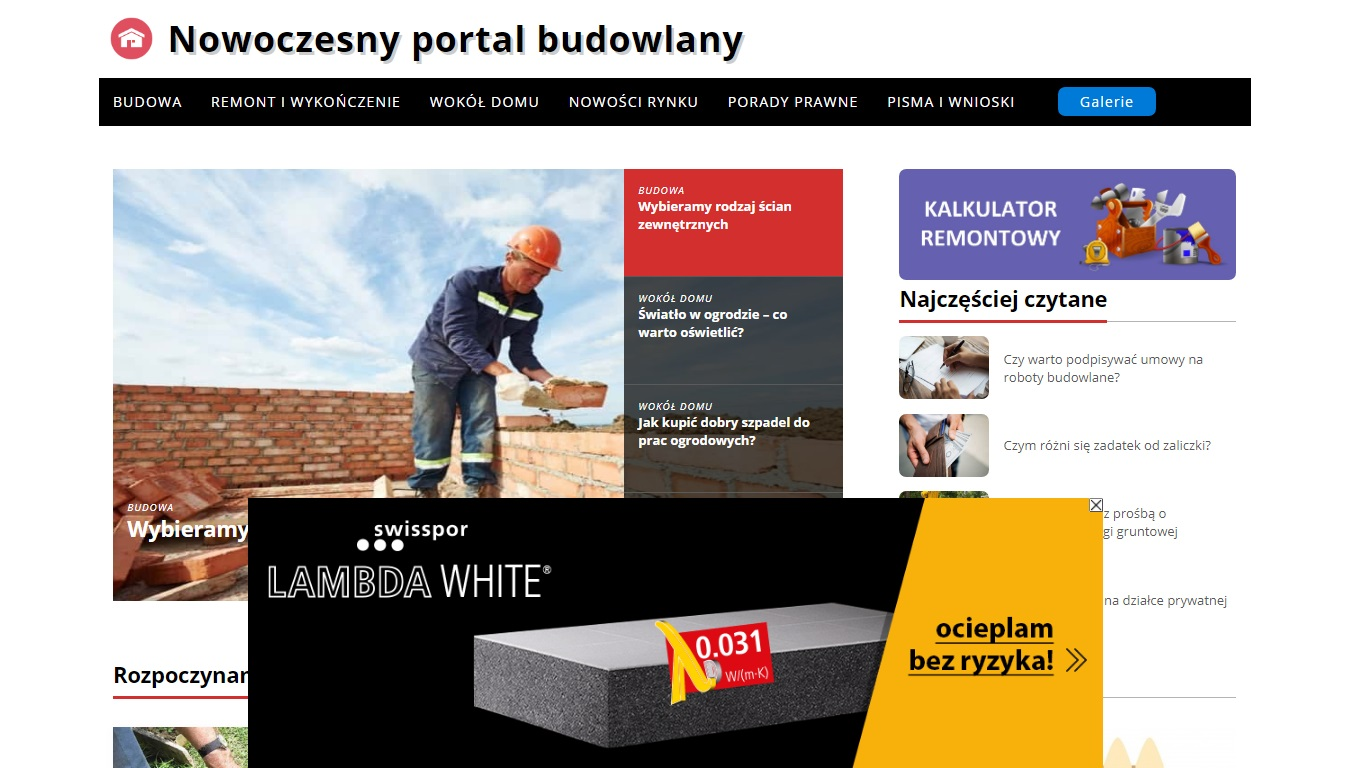 Działania promocyjne dla firmy Swisspor