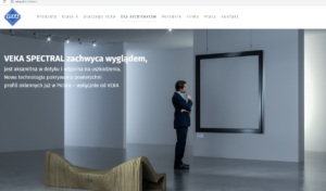 Strona dla architektów na www.veka.pl