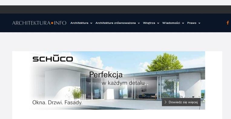 Schuco na architekturainfo.pl